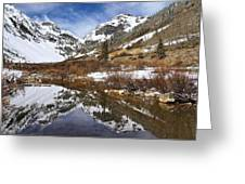 Snow-capped Refections Greeting Card