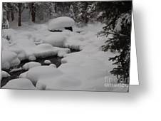 Snow Capret Greeting Card