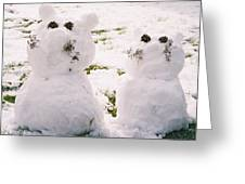 Snow Cats Greeting Card