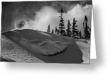 Snow Circle In The Mountains Greeting Card