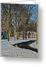 Snow Cleared Road Greeting Card