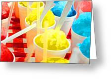 Snow Cones Greeting Card