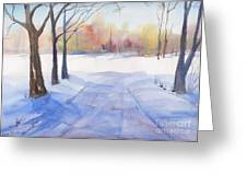 Snow Country Greeting Card
