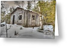 Snow Covered Abandon Cabin Greeting Card