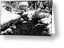 Snow Covered Banks Greeting Card