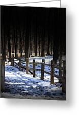 Snow Covered Bridge Greeting Card