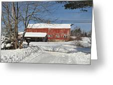 Snow Covered Masachussetts Barn Greeting Card