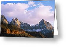 Snow Covered Mountain Range, The Greeting Card