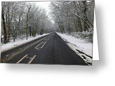 Snow Covered Road Greeting Card