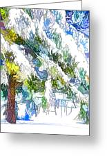 Snow-covered Tree Branch  3 Greeting Card