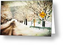 Snow-covered Trees Greeting Card