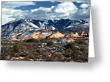 Snow Covered Utah Mountain Range Greeting Card