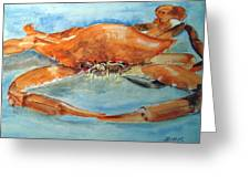 Snow Crab Is Ready Greeting Card