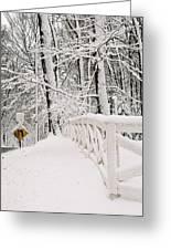 Snow Curve Greeting Card