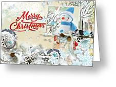 Snow Day Christmas Card Greeting Card