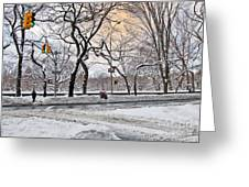 Snow Day On 5th Avenue Greeting Card
