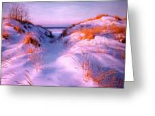 Snow Dune Greeting Card