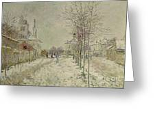 Snow Effect Greeting Card