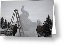 Snow Elephant Greeting Card