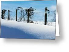 Snow Fence Greeting Card by Joyce Kimble Smith