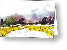 Snow Field Greeting Card