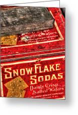 Snow Flake Sodas 767 Greeting Card