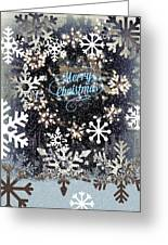 Snow Flakery Wreath 1 Greeting Card