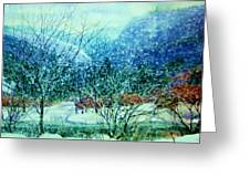 Snow Flurries Greeting Card