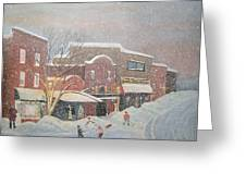 Snow For The Holidays Painting Greeting Card