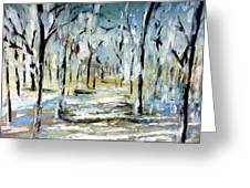 Snow Forest Greeting Card
