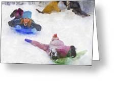 Snow Fun Greeting Card