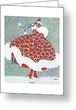 Snow Girl Greeting Card