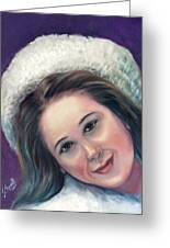 Snow Girl  Greeting Card