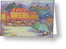 Snow Grove Park Inn Greeting Card