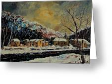 Snow In Bohan Greeting Card