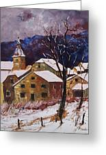 Snow In Chassepierre  Greeting Card