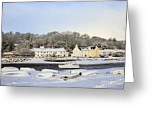 Snow In Red Wharf Bay Wales Greeting Card