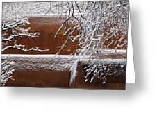 Snow In Santa Fe New Mexico Greeting Card