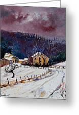 Snow In Sechery Greeting Card