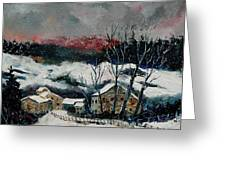 Snow In Sechery Redu Greeting Card