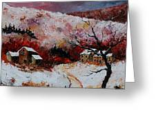 Snow In The Ardennes 78 Greeting Card by Pol Ledent