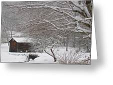 Snow In The Country. Greeting Card