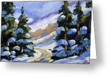 Snow Laden Pines Greeting Card
