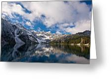 Snow Lake Vista Greeting Card