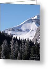 Snow Ledge Greeting Card