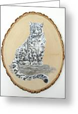 Snow Leopard - Renewed Perception Greeting Card
