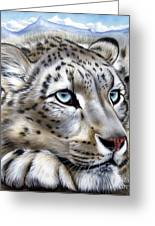 Snow-leopard's Dream Greeting Card