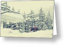 Snow Lift Greeting Card