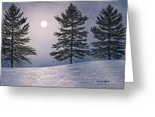 Snow Light Greeting Card