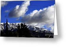 Snow Line In Socal Greeting Card